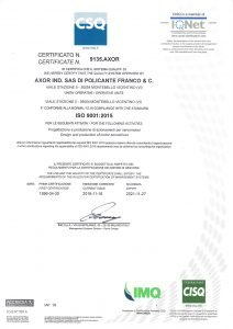 CSQ ISO 9001 2015 Certification